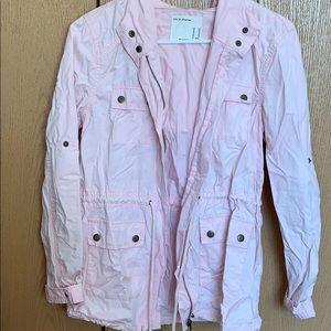 Life in Progress pink lightweight zip up jacket